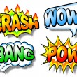 Stock Vector: Effect bubbles with chrash, wow, bang and pow