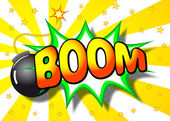 Boom explosion — Stock Vector