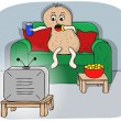 Stock Vector: Couch potato