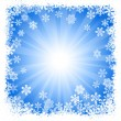 Abstract blue snowflake background — Stock Vector #29987193