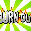 Burn out — Stock Vector