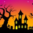 Spooky halloween background — Stock Vector #30583293