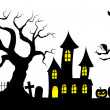 Spooky halloween background — Stock Vector #30743429