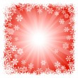 Abstract red snowflake background — Stock Vector
