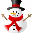 Snowman isolated on white background — Stock Vector