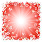Abstract red snowflake background — Vector de stock