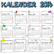 German calendar 2014 — Stock Vector