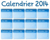 Calendario francés 2014 — Vector de stock