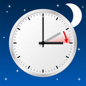 Time change to daylight saving time — ストックベクタ