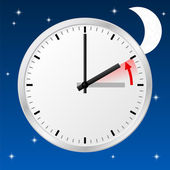 Time change to standard time — 图库矢量图片