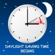 Stock Vector: Time change to daylight saving time