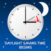 Time change to daylight saving time — Vector de stock