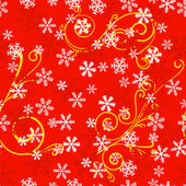 Seamless snowflake pattern — Stock Vector