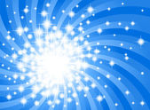 Abstract blue star background — Vecteur