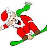 Santa Claus snowboarder — Stock Vector #36322507
