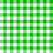 Green white plaid tablecloth — Stock Vector