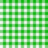 Zelené bílé kostkované ubrusy — Stock vektor