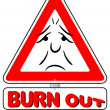 Stock Vector: Burnout warning sign