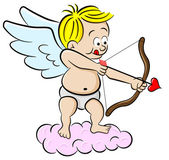 Cupid with bow and arrow — Vetor de Stock
