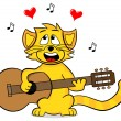 Singing cat — Stock Vector
