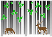 Barcode forest — Stock Vector