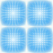Seamless dotted halftone pattern — Stock Vector