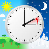 Time change to standard time — Stock Vector