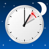 Time change to standard time — Vetor de Stock