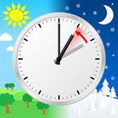изменение времени на зимнее время — Cтоковый вектор
