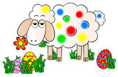 Colorfully painted easter lamb — Wektor stockowy