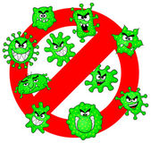 Viruses are not permitted — Stockvektor