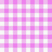 Pink white plaid tablecloth — Stock Vector