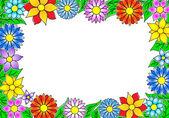 Flower border — Cтоковый вектор
