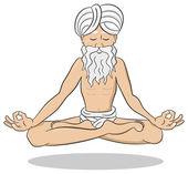 Floating meditating yogi — Stock Vector