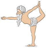 Yogi who practices yoga — Stock Vector