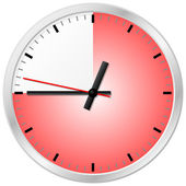 Timer with 45 (forty-five) minutes — Vector de stock