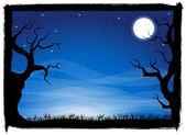 Spooky halloween background — Stock Vector