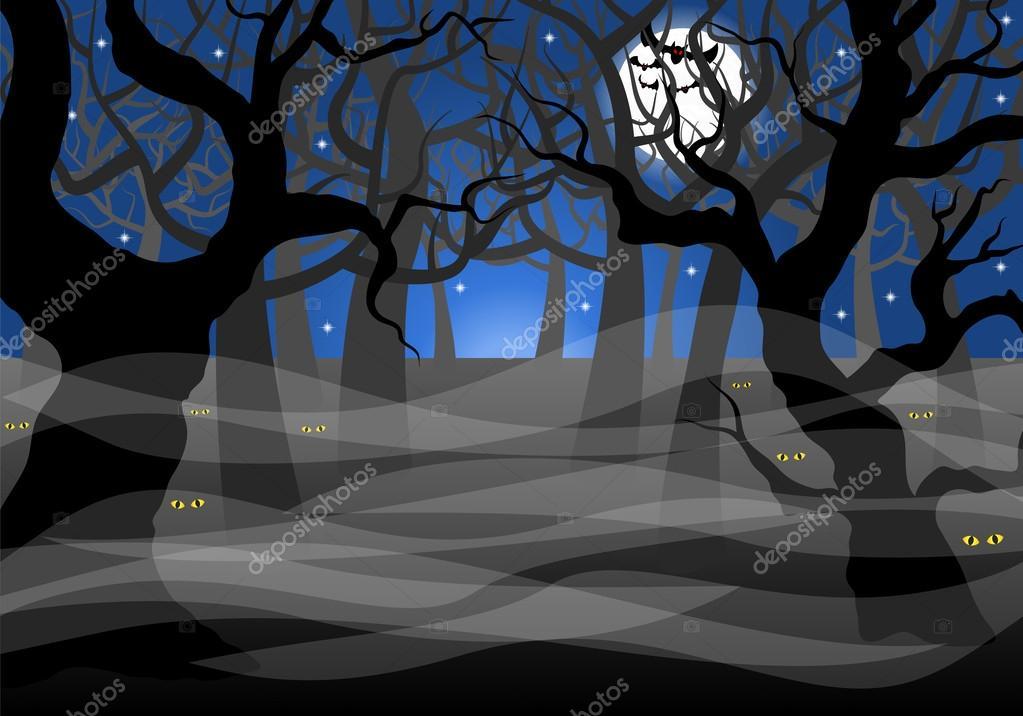 Resultado de imagen de bosque oscuro dibujos animados