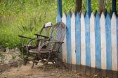 Две пустые стулья в Кении — Стоковое фото