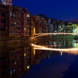Stock Photo: Christmas bridge in Girona