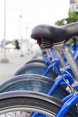 Urban bicycle parking — Stock Photo