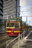 Urban old tram — Stock Photo