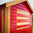 Stock Photo: Red wooden house