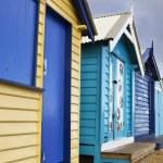 Brighton Bathing Boxes — Stock Photo