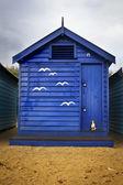 Blue bathing box — Stock Photo