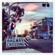 Stock Photo: Railway crossing