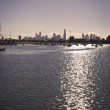 Stock Photo: Melbourne's Skyline from beach.