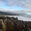 Pancake rock at west coast of New Zealand — Stockfoto