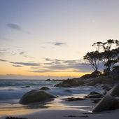 Zmierzch na plaży — Zdjęcie stockowe