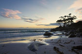 Сумерки на пляже — Стоковое фото